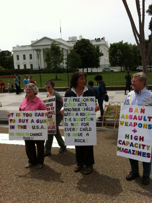 Demonstration at White House